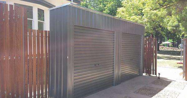 Multiple roller door storage lockers installed bike for Garden shed with roller door