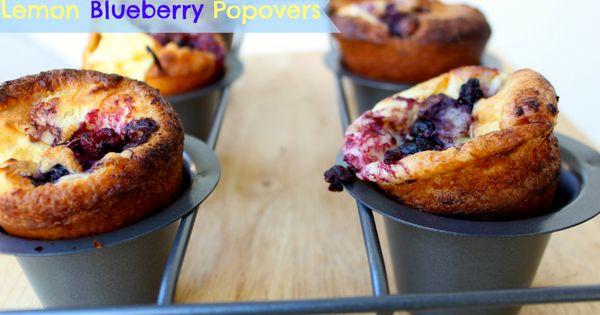 March 10: National Blueberry Popover Day | Lemon Blueberry ...