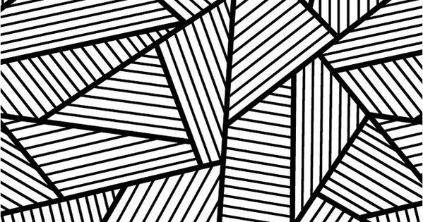 Free Coloring Page «coloring-adult-triangles-traits». Anti