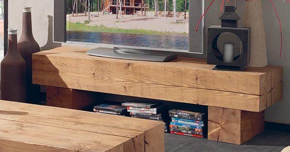 meuble tv poutre en pin massif wow pinterest pin massif poutres et meuble tv. Black Bedroom Furniture Sets. Home Design Ideas