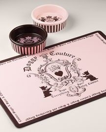 Juicy Couture Dog Bowl And Food Mat Maybe Next Dog Should Be Girl