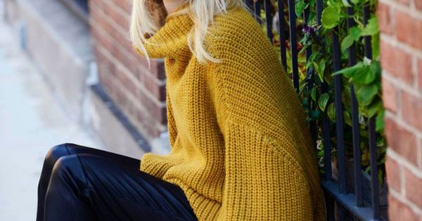 Mustard Yellow oversized sweater
