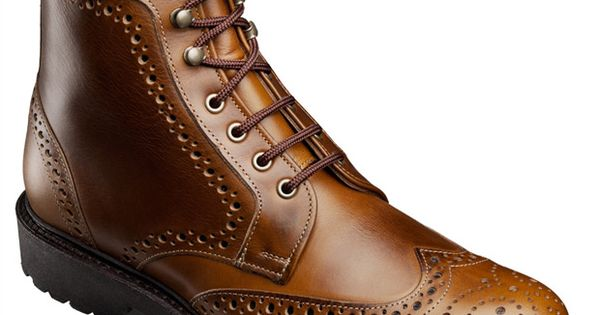 Allen Edmonds Long Branch Wingtip Boots 6043 Golden Brown
