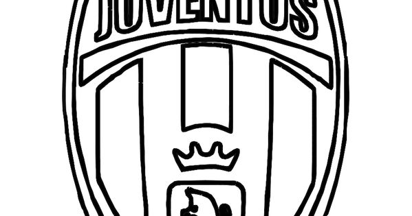 Juventus logo soccer colouring pages free coloring