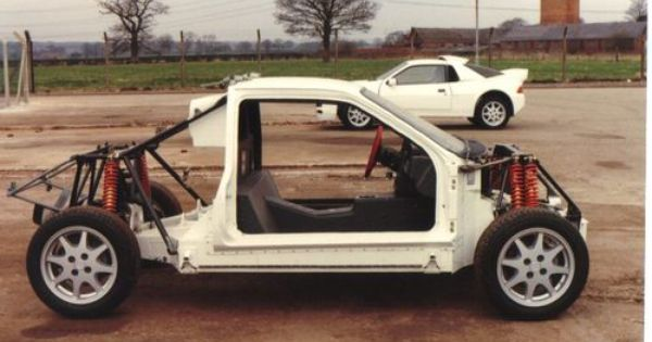 The 1984 86 Ford Rs200 95 Customs Ford Rs Rally Car Chassis