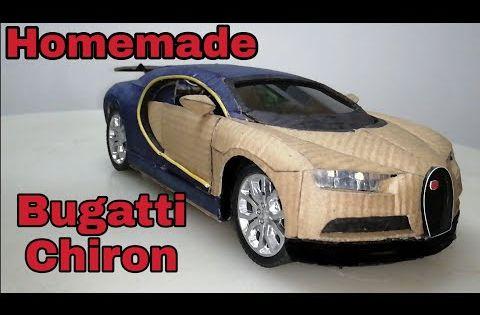 How To Make Bugatti Chiron Rc Cardboard With Automatic Door Youtube Bugatti Chiron Bugatti Cardboard Car