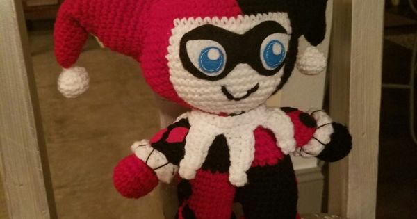 Harley Quinn amigurumi crochet doll handmade as I went ...