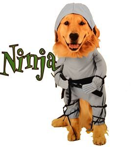 Ninja Dog Costume Halloween Pet Ninja Animal Halloween