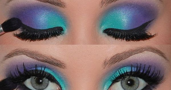 Gorgeous Make-up...but Id think itd look even nice if the colors were