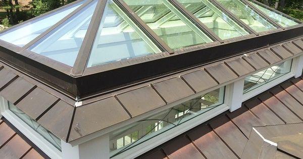 Copper Lantern Skylight Glass House Llc Roof Lantern Skylight Rooftop Terrace Design
