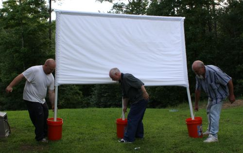 how to make outdoor cinema