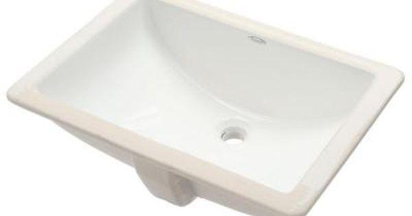 American Standard Studio Rectangular Under Mounted Bathroom Sink