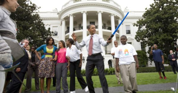 President Barack Obama and First Lady Michelle Obama celebrate May 4th -