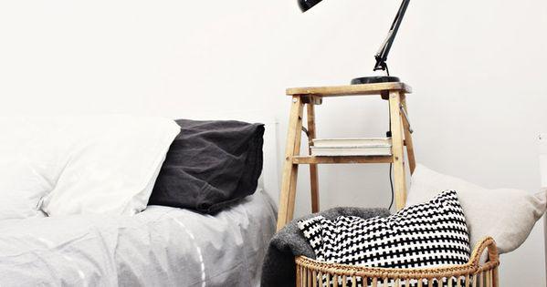Black white and bedroom decor Bed Room bedroom design BedRoom