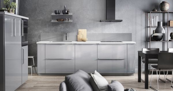Metod keuken in elegant grijs ikea ikeanl keukens modern hoogglans ringhult keukens - Idee deco keuken grijs ...