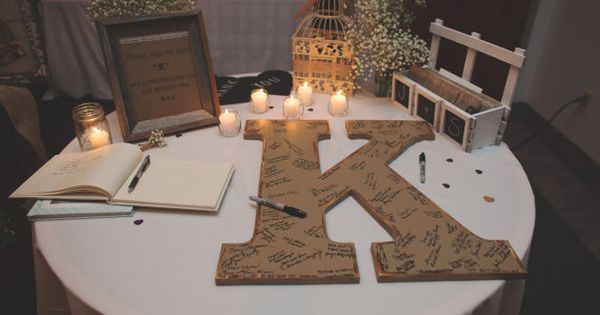 are you doing normal guestbook or guestbook alternative.... Rustic wedding guest book
