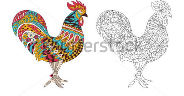 Rooster Coloring Pages For Adults Rooster And Fox Coloring Pages Az Coloring Pages Farm Animal Coloring Pages Animal Coloring Pages Fox Coloring Page