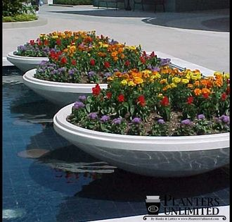 Outdoor Or Indoor Low Bowl Planters Custom Sizes Styles And Finishes Artificial Garden Plants Artificial Plants Outdoor Artificial Plants