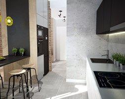 Aranzacje Wnetrz Salon Projekt Mieszkania W Warszawie Maly Salon Z Kuchnia Styl Industrialny Mart Design Architektura Wnetrz Prz Home Decor Decor Home