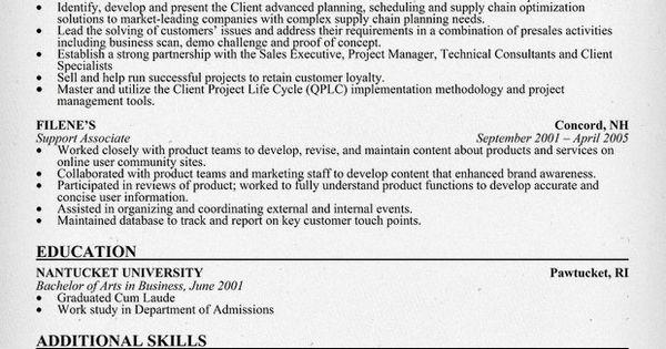pre  sales consultant resume sample  resumecompanion com