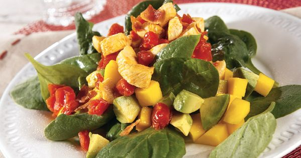 Mango salad, Vinaigrette and Mango on Pinterest