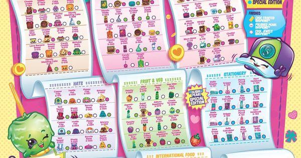 It is a picture of Crazy Shopkins Season 3 List Printable