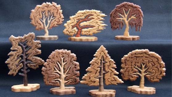 Wooden Store Shelves