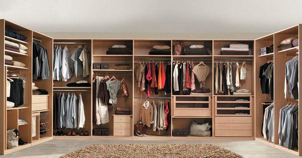R19 armario disposici n en u interiores a medida - Organizar armarios empotrados ...