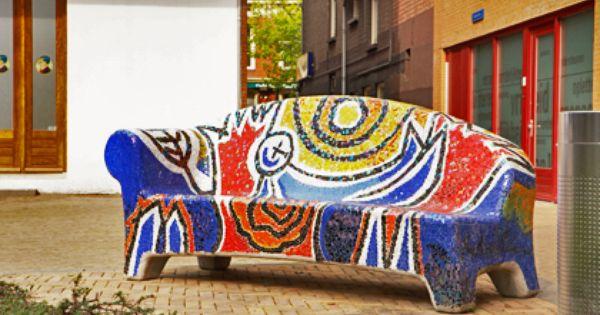 Mozaiek bank mozaiek pinterest bank moza eken en de buurt - Deco mozaieken badkamer ...