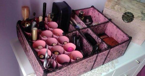 Recicla Caja De Zapatos Caja Para Maquillaje Organizadores De Cosmeticos Organizadores Reciclados Cajas Organizador De Maquillaje
