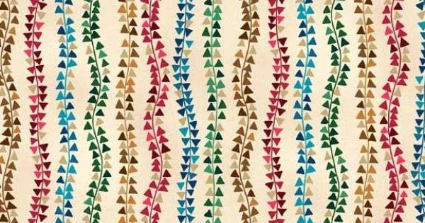 Makower - Aurelia Triangle Stripe Cream - cotton fabric