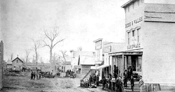 Street In Crookston Minnesota 1870 Crookston Minnesota