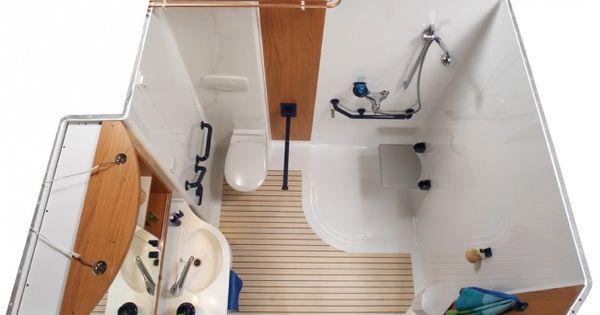 Cabine de douche adapt e pour handicap salle de bain for Cabine de salle de bain prefabriquee
