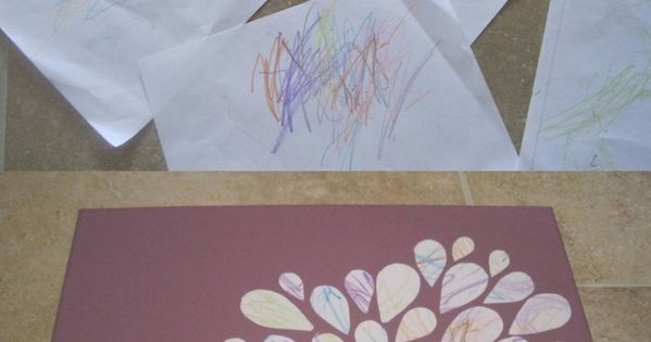 Toddler scribble art toddler craft