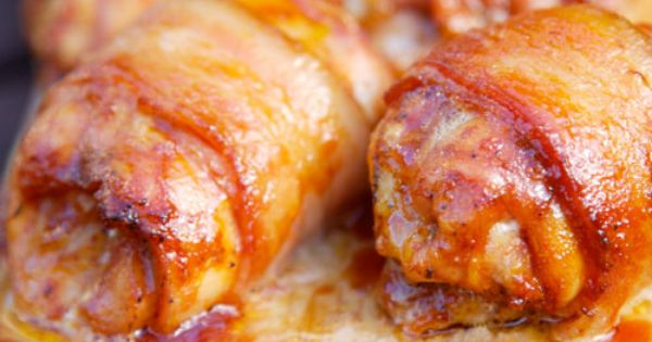 bacon wrapped chicken thighs with jack daniels bbq sauce recipe