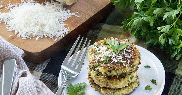 Zucchini Quinoa Fritters with Parmesan | Recipe | Zucchini Quinoa ...