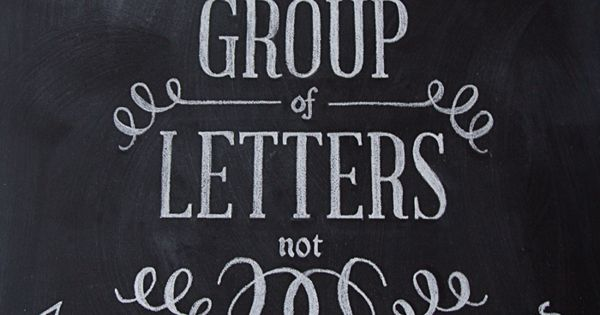 "Chalkboard hand lettering featuring the quote, ""Type is a beautiful group of"