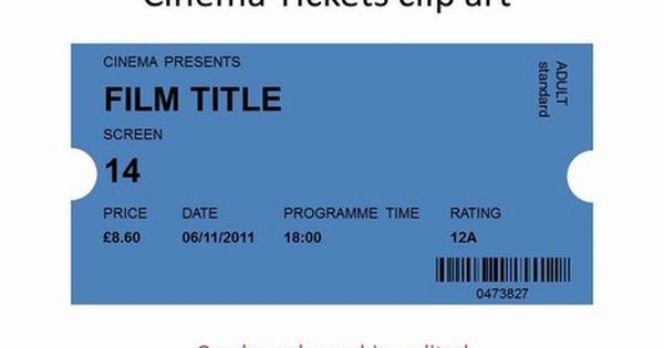 More Clipart Cinema Ticket Cinema Ticket Raffle Tickets Template Cinema
