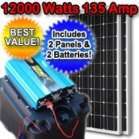 Solar Powered Generator 135 Amp 12000 Watt Solar Generator Just Plug And Play Solar Energy Panels Solar Powered Generator Best Solar Panels