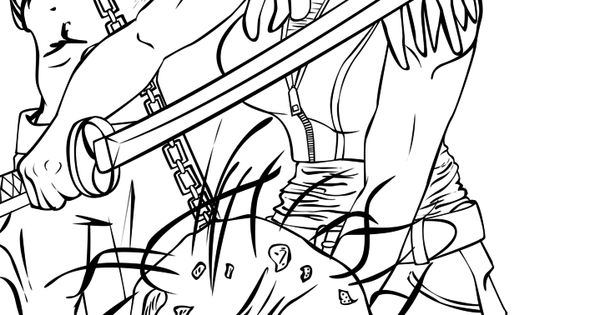 Michonne Line Art By LCBrown