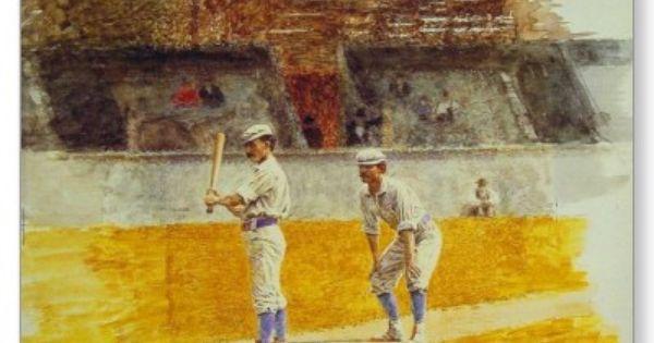 Postcard With Thomas Eakins Painting Zazzle Com Baseball Art Art Sports Art