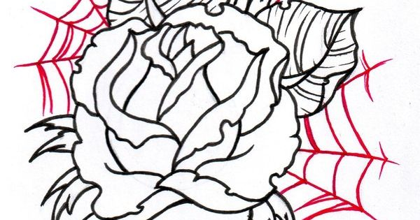 tattoo sketches | Neo Traditional Rose Outline 2 by ...