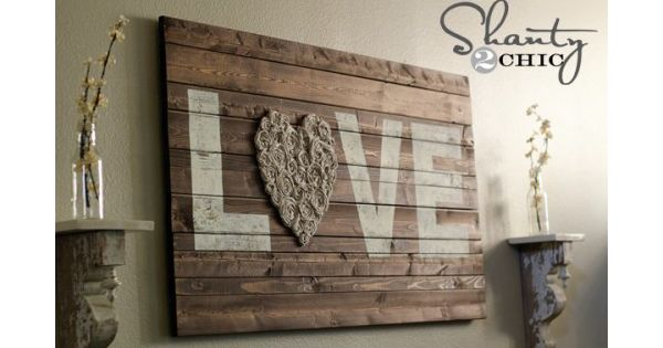 12 Shanty Chic Ideas to do in the home. This wood sign
