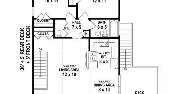 Riverside Retreat House Plan 4372 2 Bedrooms And 1 Bath