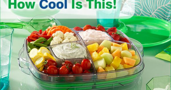 Cool N Serve Tray By Pampered Chef I Love This The Green Freeze