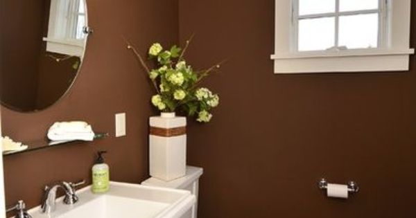 Powder Rooms Brown Walls And Powder On Pinterest