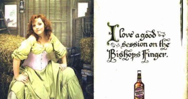 Enjoying The Bishops Finger Bishops Finger Beer Humor Funny Pictures