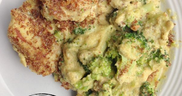 Skillet Chicken Divan: Chicken breast or thighs, broccoli, cashews, garlic, white or