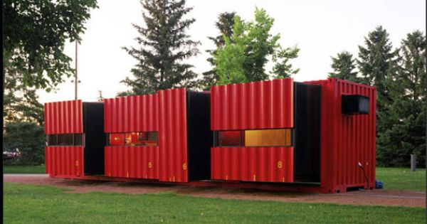 container house container bulidings pinterest. Black Bedroom Furniture Sets. Home Design Ideas