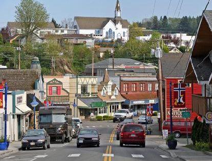 Bainbridge Island Wa Downtown Poulsbo Washington